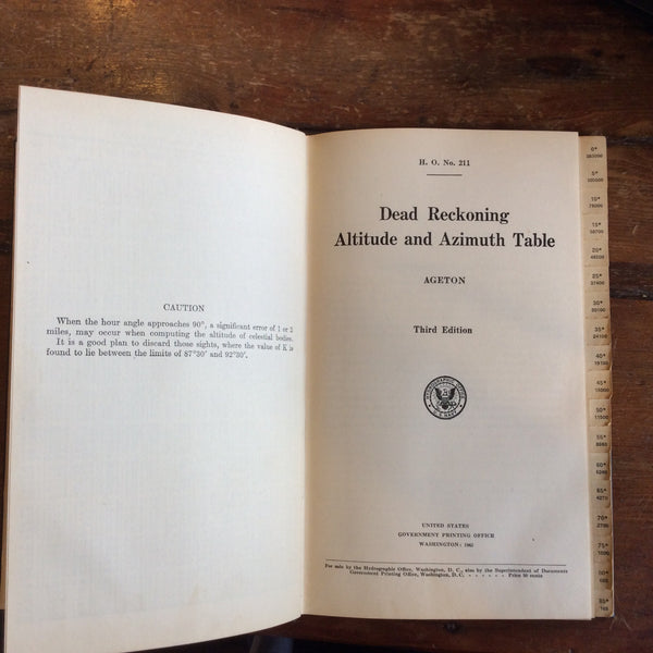 "Book: ""Dead Reckoning Altitude and Azimuth Table"" Third Edition"