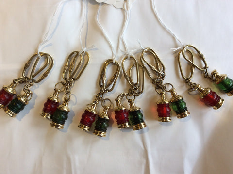 Keychain, Ship's Lantern, Port and Starboard, Pair