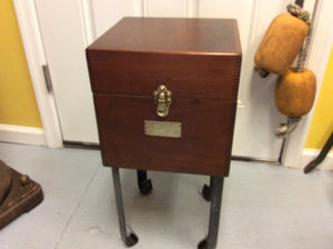 End Table, Compass Box, Bureau of Ships, Circa 1940 - Annapolis Maritime Antiques