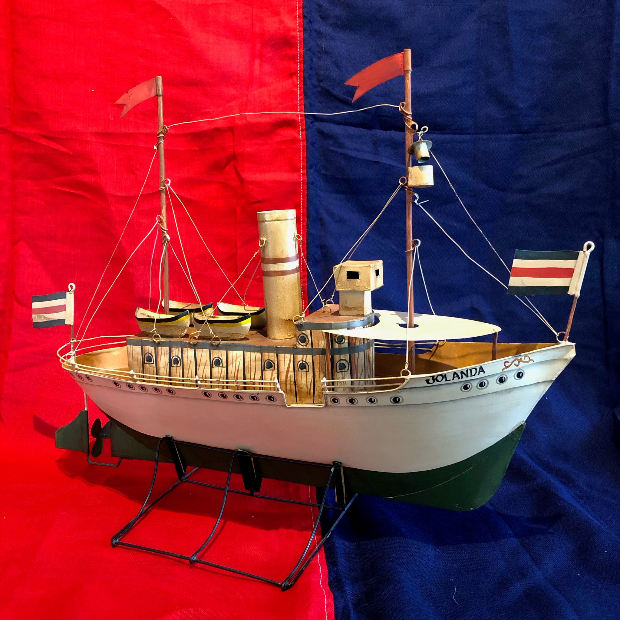 "Tin Model Ship, ""JOLANDA"""