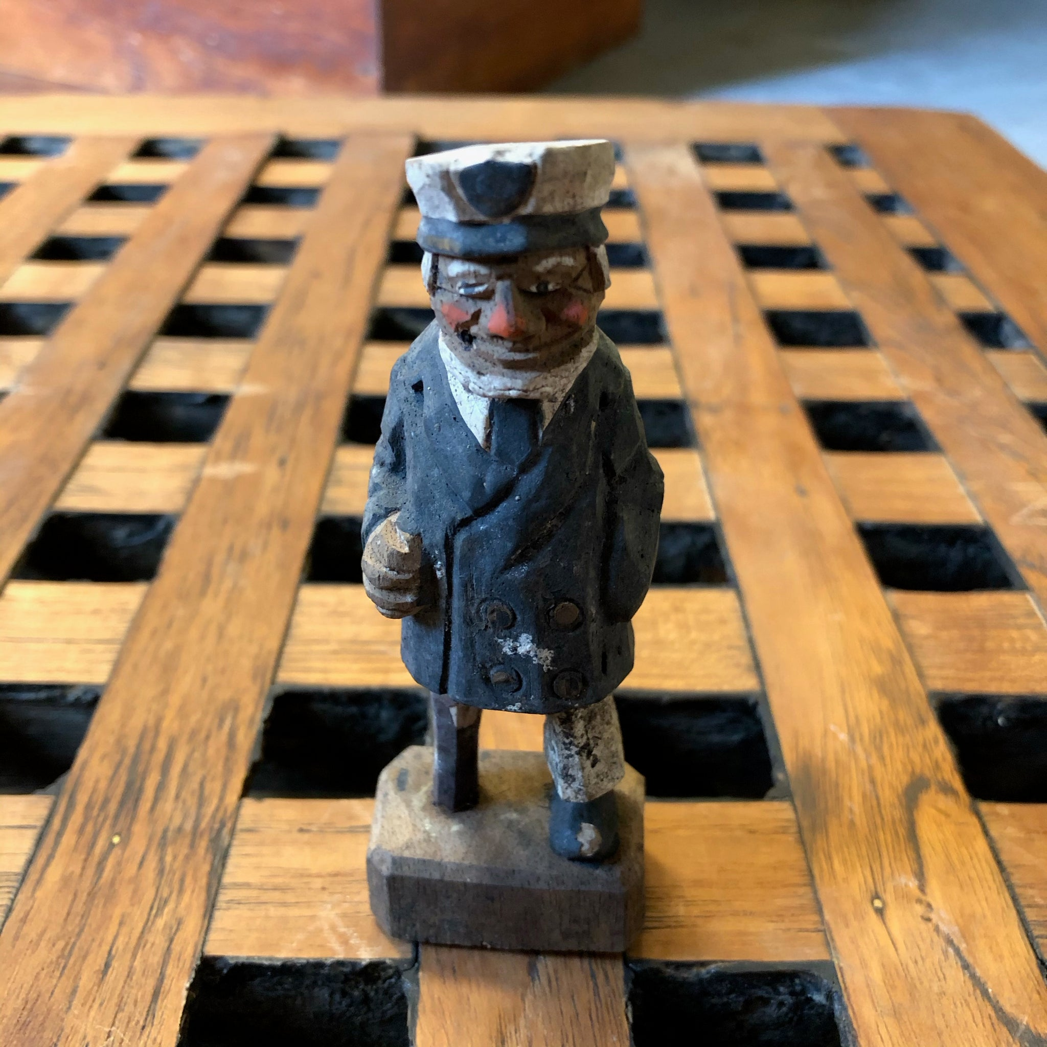 Small Wooden Sailor Figure