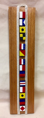 Artwork, Hand Carved Signal Flags Hail To The Chief