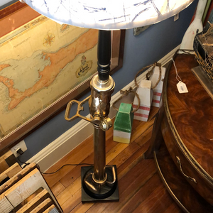 Floor Lamp, made from USN Damage Control Firefighting Nozzle, circa WWII