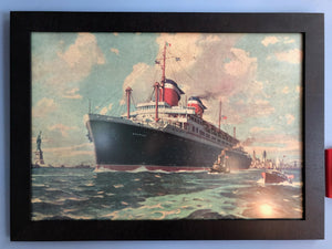 Ocean Liner Advertising Art 1960s - Annapolis Maritime Antiques