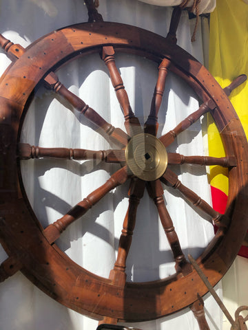 Ship's Wheel, Large, Fully Restored