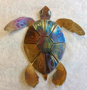Turtle, stainless steel, hand-made, signed by artist - Annapolis Maritime Antiques