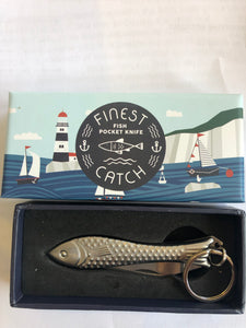 Pocket knife, Fish, with Key Chain - Annapolis Maritime Antiques
