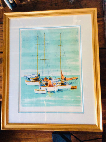 Sailboats by Michel Stringer - Annapolis Maritime Antiques