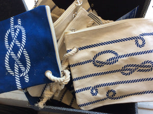Bag w/ nautical rope, set of 2 - Annapolis Maritime Antiques