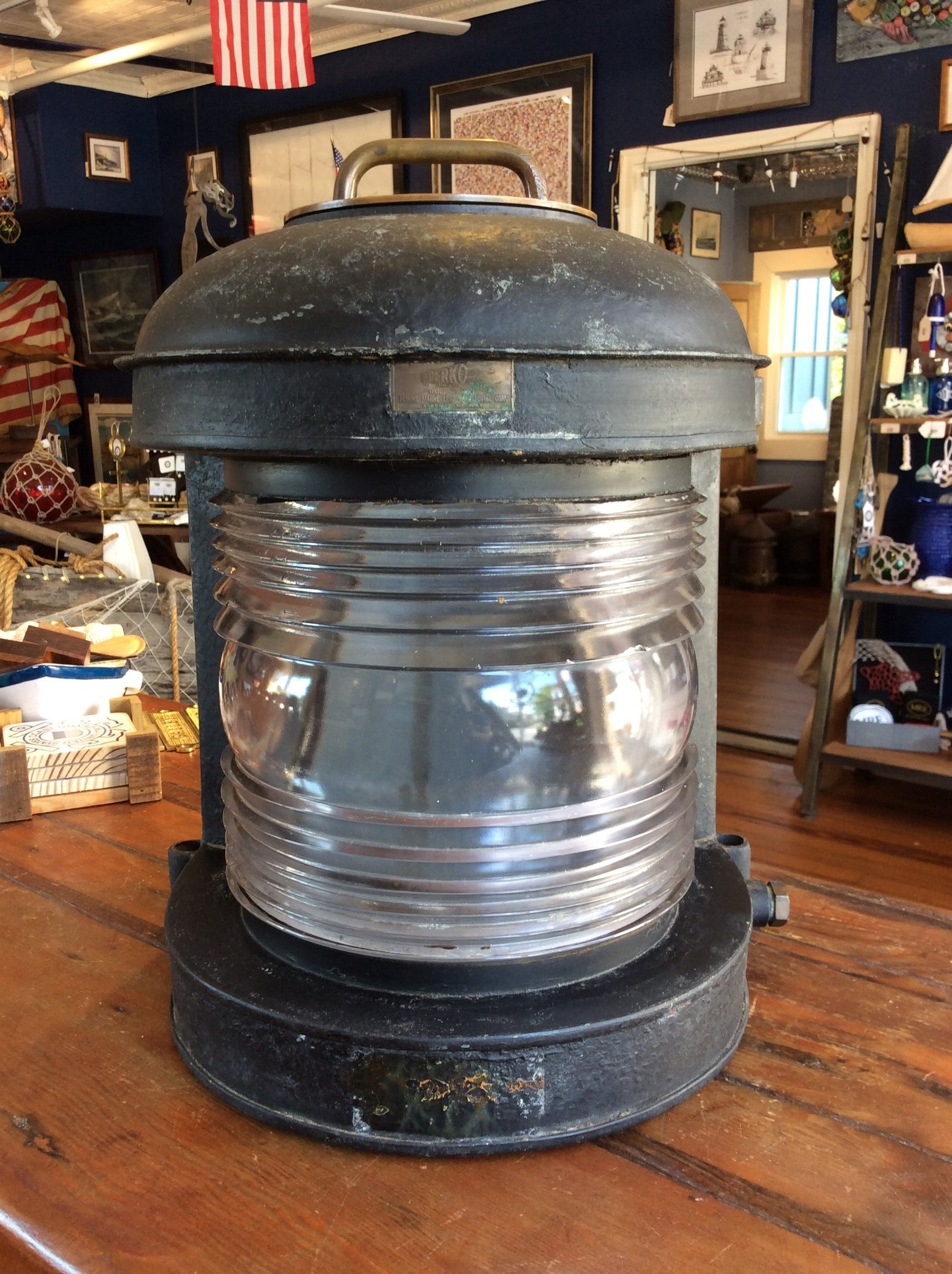 Lamp, Perko, 1943 Liberty Ship, SS Matthew Lyon - Annapolis Maritime Antiques