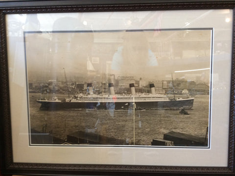 Original Photograph, SS France, Circa 1910, NYC - Annapolis Maritime Antiques