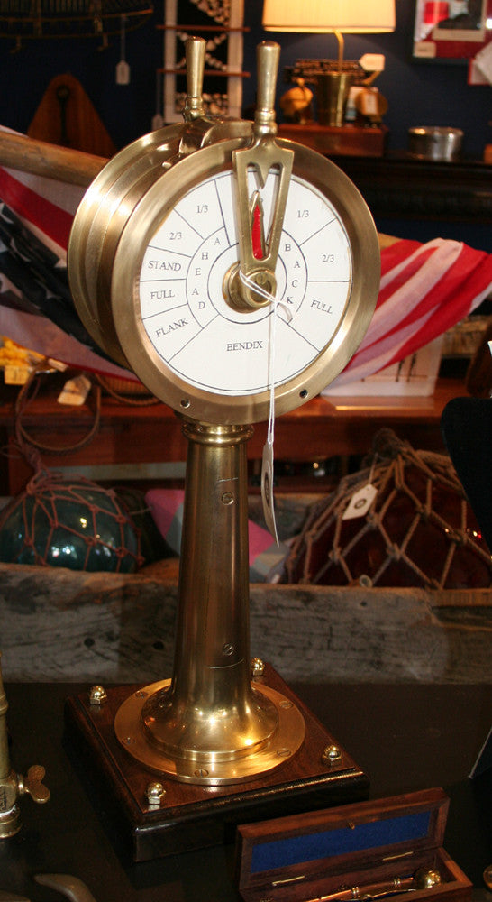 Engine Order Telegraph, Miniature, Fully Functional - Annapolis Maritime Antiques