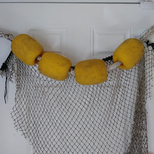 Assorted Fishing Floats with Rope and Net