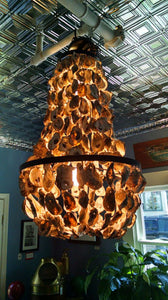 Oyster Shell Chandelier, Chesapeake Bay Oysters, Crafted By Local Artist