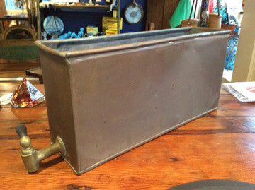 Planter, Copper With Brass Spigot - Annapolis Maritime Antiques
