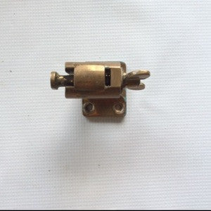 Latch, spring loaded brass
