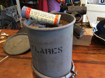 Flares Six US Navy In Original Canister - Annapolis Maritime Antiques