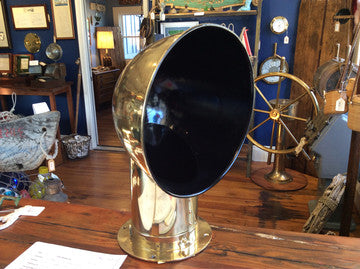 Cowl Vent, Brass (Air Scoop or Funnel) - Annapolis Maritime Antiques
