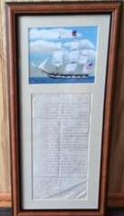Antique List of Sails with Original Oil Painting, Jean Colquhoun - Annapolis Maritime Antiques