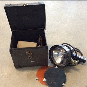 Light, Signal with colored lenses and case - Annapolis Maritime Antiques