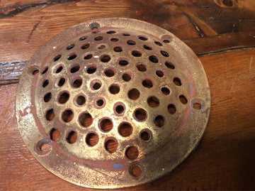 Scupper Cover, Brass - Annapolis Maritime Antiques