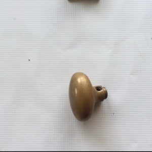Doorknob, Brass Oval Large - Annapolis Maritime Antiques