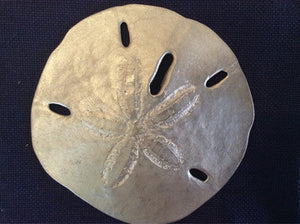 Sand Dollar, Pewter, Large - Annapolis Maritime Antiques