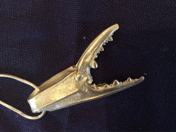 Blue Claw Crab Necklace - Annapolis Maritime Antiques