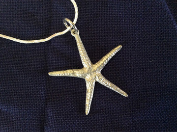 Pewter Starfish Necklace Jeff Mitchell