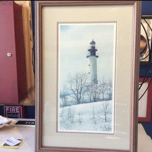 Picture, Print, Lighthouse, signed 368/750