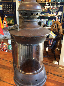 Lantern, Binacle Brass Unmarked - Annapolis Maritime Antiques