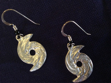 Earrings, Hurricane Charm, Pewter - Annapolis Maritime Antiques