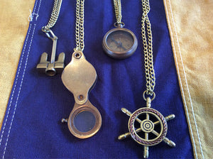 Necklaces, Brass, Various Nautical Objects