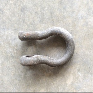"Shackle, ""D"" large steel - Annapolis Maritime Antiques"