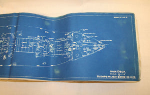 Booklet, Original Blueprint for the Victory Ship USS Diamond Head (Book) - Annapolis Maritime Antiques