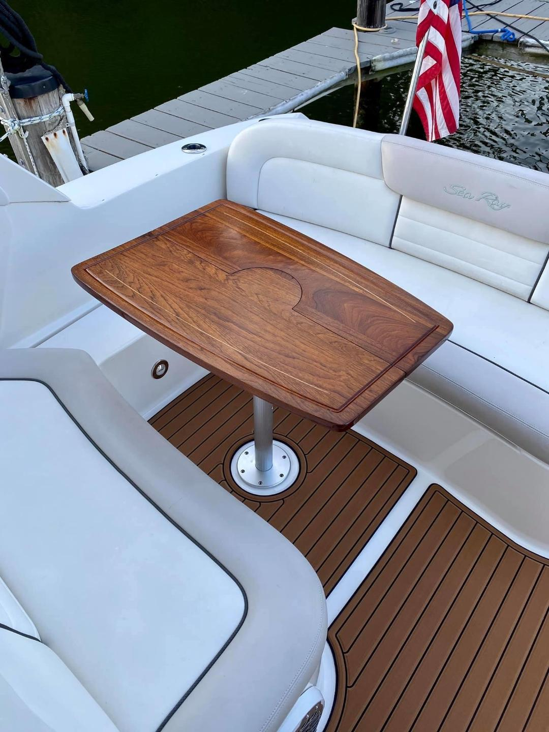 Boat Table Top, Folding, African Mahogany