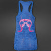 Blue Swagger Gunslinger Burnout Tank Top