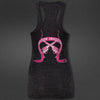 Black & Pink Swagger de'Gunslinger Burnout Tank Top