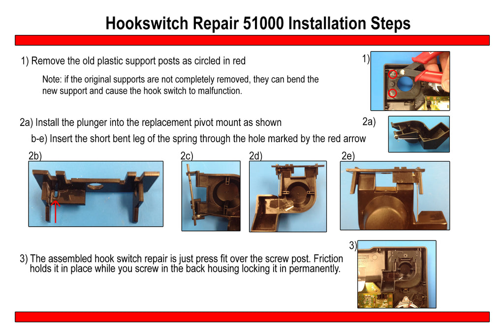 Hookswitch Repair Kit 5100 Instructions