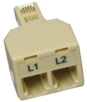 Two plug adapter for Avaya 267C