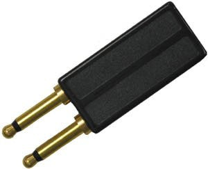 ADAPTER 30302: Avaya, 302C, Call Master 2,3,4, 2 Prong, Black
