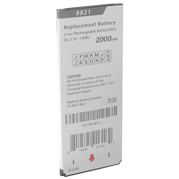 BATTERY 16821: Cisco 8821, 8821EX Replacement Battery, 2000 mAh, 3.7 V