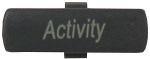 BUTTON 36800: Nortel, M39XX, ACTIVITY, Dk. Gray