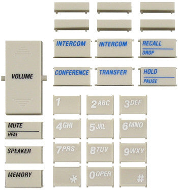 BUTTONSET 30450: Avaya, Spirit, 6 Btn, 28 Keys, White