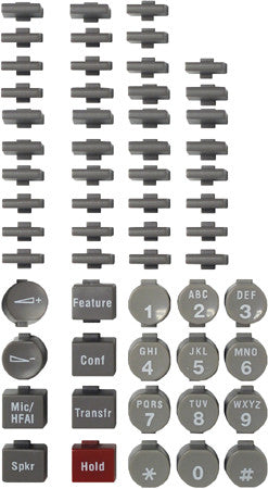BUTTONSET 30980: Avaya, Euro 34D, Black, (58 piece set)