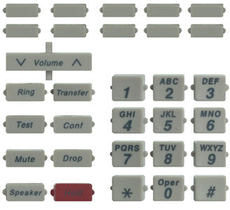BUTTONSET 31000: Avaya, 8410, New Style, (31 piece set)