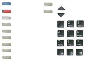 BUTTONSET 33000: Mitel, Superset 4001, (25 piece set)