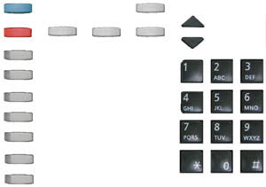BUTTONSET 33050: Mitel, Superset 4015, (27piece set)