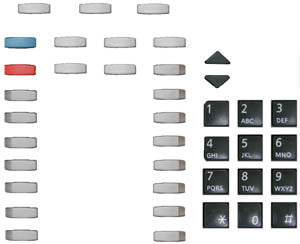 BUTTONSET 33100: Mitel, Superset 4025, (39 piece set)