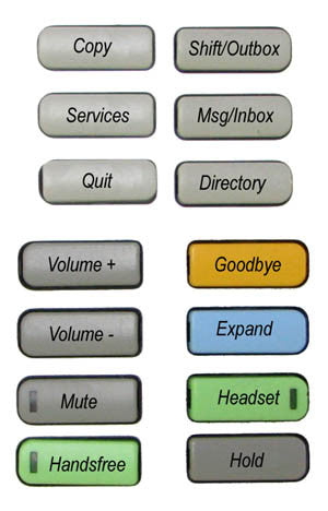 BUTTONSET 36100: Nortel, IP, 1120E, 1140E , (14  Buttons), English Words